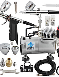 OPHIR 110V,220V 2-Airbrush & Compressor Kit Double Action Spray  Air Brush Set Tattoo Nail Art