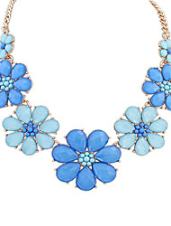 Necklace Pendant Necklaces Jewelry Party / Daily / Casual / Sports Alloy / Resin Yellow / Blue 1pc Gift