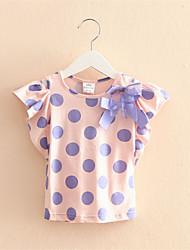 Summer Baby Girl Dress Princess Birthday Infant Girl Dot Tee Baby Girls Cutton T-shirt 2016 New