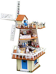 Chi Fun House Diy Hut Seventy-Seven Valentine'S Day Gift Handmade Model House Monsoon Waiting
