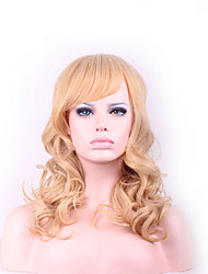 Points And 20 inch in Europe And The United States The New Golden Brown Curly Hair Nylon Hair Wigs