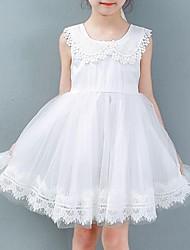Vestido / Conjunto de Ropa Chica de-Verano-Poliéster-Rosa / Blanco