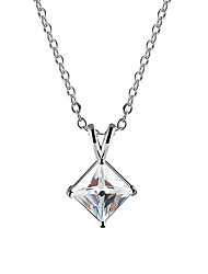 Hualuo® Cubic Zirconia Necklace Pendant Necklaces for women Fine Jewelry Wedding accessory ,