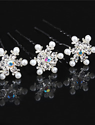 The Bride Headdress U Hair Pins Snow Diamond Pearl Pin Dish Hair Accessories Wedding Accessories 10pcs