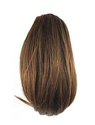 длина коричневый парик 26см синтетический прямой высокой температуры проволоки захватами маленький хвостик цвет 2009