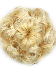 Kinky Curly Gold Hepburn Rope Human Hair Weaves Chignons 1003