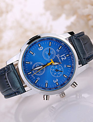 Men's Luxury Leather Band White Case Dress Style Watch Jewelry Wrist Watch Cool Watch Unique Watch Fashion Watch
