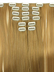 Wig Gold Brown 62CM High Temperature Wire Length Straight Hair Synthetic Hair Extension