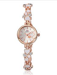 Damen Modeuhr Armband-Uhr Quartz Wasserdicht Legierung Band Elegante Schwarz Weiß Weiß Schwarz
