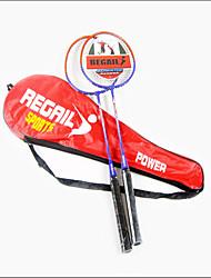 Raquetes de Badminton(Vermelho / Azul, DELigas de Ferro) -Não Deforma / Durabilidade