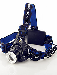 Strong light flashlight head lamp LED zoom T6 white light outdoor cycling far to shoot the light