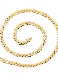 The New Fshion Men's Alloy / Gold Plated Necklace Chain / Wedding / Party / Daily / Casual / Sports / 50cm / 4mm
