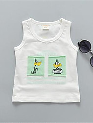 xiaoyifeng Boy's Cotton Tank & Cami,Summer Print