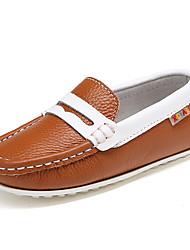 Para Meninos / Para Meninas-Sapatos de Barco-ConfortoPreto / Marrom / Roxo / Vermelho-Couro-Ar-Livre / Casual / Festas & Noite