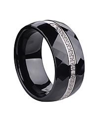 Ringe,Silber Modisch Hochzeit / Party / Alltag / Normal Schmuck Sterling Silber Eheringe 1 Stück,6 / 7 / 8 Schwarz / Weiß