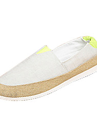 Men's Loafers & Slip-Ons Spring / Fall Moccasin / Comfort Linen / Fabric Casual Flat Heel Split Joint Black / Blue