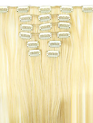 Wig Golden 62cm High Temperature Wire Length Straight Hair Synthetic Hair Extension