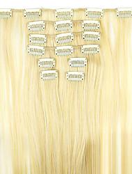 peruca de cabelo em linha reta extensão do cabelo sintético 62 centímetros de alta temperatura comprimento do fio de ouro
