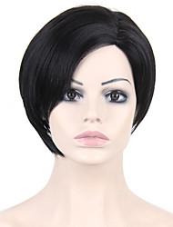 жаростойкие дешевые поддельные волосы парик черный короткие синтетические парики для женщин