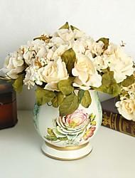 Soie / Mousse de polystyrène Roses Fleurs artificielles
