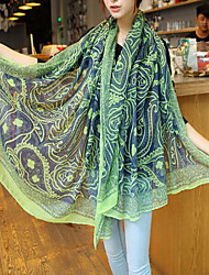 Bali Yarn Korean Retro Female Persian Pattern Stitching Color Scarves