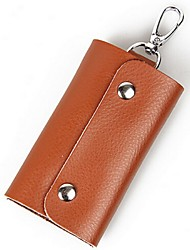 Women Cowhide Professioanl Use Key Holder Pink / Purple / Blue / Green / Yellow / Orange / Brown / Red / Black / Fuchsia