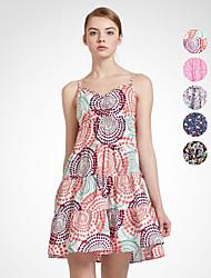 Meters/bonwe Women's Strap Sleeveless Above Knee Dress-241675