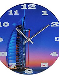 Modern Glass Art Mediterranean Fashion Creative Personalized Clocks 10 Inch Clock