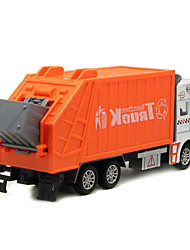 Children's toy car truck 1:48 back of alloy car model toy excavators 1:48 garbage truck (9PCS)