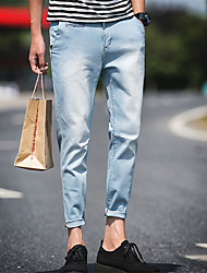 Famous Brand Men Jeans Fashion Designer Denim Blue Printed Pants For Male Trousers Button Fly Jeans Men