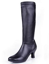 Zapatos de baile(Negro) -Latino-No Personalizables-Tacón Cuadrado