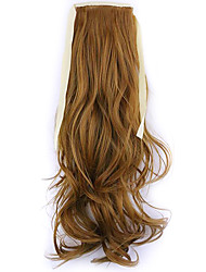 Borwn Length 50CM Factory Direct Sale Bind Type Curl Horsetail Hair Ponytail(Color 27S)