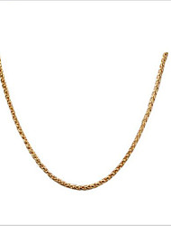 Women's Chain Necklaces Titanium Steel Gold Plated 18K gold Fashion Personalized Jewelry For Daily Casual