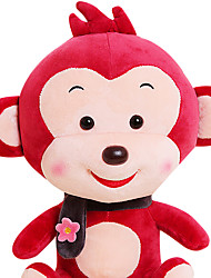 Fubao mono mono mascota del zodiaco del mono de marionetas muñeca segura 40cm juguetes de peluche de vino tinto