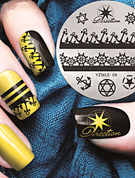 Marine Style Anchor Manicure Printing Plate