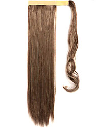 Brown 60CM Synthetic High Temperature Wire Wig Straight Hair Ponytail Color 33/613