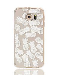 Para Samsung Galaxy S7 Edge Transparente / Estampada Capinha Capa Traseira Capinha Fruta Macia TPU S7 edge / S7 / S6 edge / S6