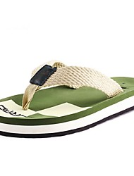 Men's Slippers & Flip-Flops Comfort Synthetic Summer Casual Flat Heel Black Brown Green