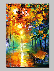 Large Canvas Oil Painting Hand Painted Modern Abstract Landscape Wall Art With Stretched Frame Ready To Hang