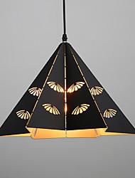 Max 60W Retro Mini Style Painting Metal Pendant LightsLiving Room / Bedroom / Dining Room / Kitchen / Study Room/Office