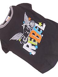 Camiseta para Perros Negro Verano XS / S / M Algodón