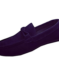 Men's Flats Spring / Fall Moccasin / Comfort PU / Leatherette Casual Flat Heel Others Black / Blue / Gray Walking