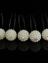 Hit The Bride Headdress Decorated Flower U Clamp Diamond And Pearl Ball Pin 10pcs