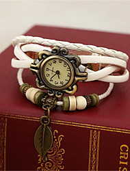 Women's Alloy Leather Handcrafted Vintage Bracelet Table(More Colors)