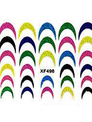 1pcs - Autocollants 3D pour ongles / Bijoux pour ongles - Doigt - en Punk - 62mm*52mm