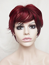 Europe And The United States Wine Red Old 4 inch Hair Nylon Hair Wigs