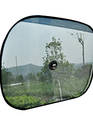 2 pcs puntos negros laterales de malla auto paño ventana de auto protector de sol sombrillas 44 * 36cm