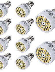 Youoklight® 10pcs e14 2w 24-smd 2835 führte Scheinwerfer weißes warmes weißes Licht 150-200lm (ac 220 ~ 240v)