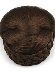 Kinky кудрявый карие профессия шнурка человеческих волос парики шиньоны 2009