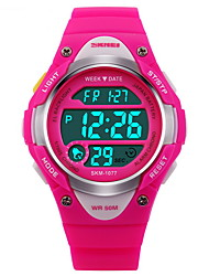 SKMEI Kids' Sport Watch Digital Watch LCD Calendar Chronograph Water Resistant / Water Proof Alarm Luminous Stopwatch Digital Rubber Band Strap Watch